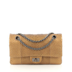 Chanel Reissue 2.55 Handbag Python 225 Gold