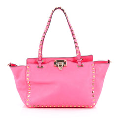 Valentino Rockstud Tote Soft Leather Small Pink 1824701