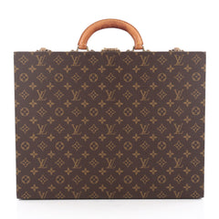 Louis Vuitton President Classeur Briefcase Monogram Canvas Brown 1824901