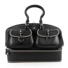 Christian Dior Detective Handle Bag Leather Large Black 1827501