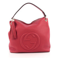Gucci Soho Convertible Hobo Leather Large Red 1830302