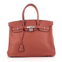 Hermes Birkin Handbag Brown Togo with Palladium Hardware 1831501