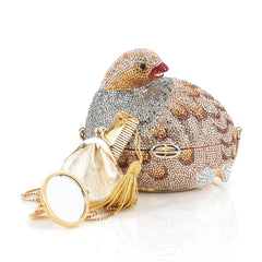 Judith Leiber Bird Minaudiere Crystal Small Gold 1834603