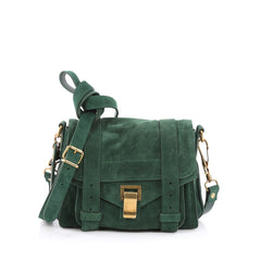 Proenza Schouler PS1 Pouch Suede Green