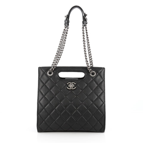 Buy Chanel Boy Shopper Quilted Goatskin Small Black 1838101 – Rebag a2f4f13c8dc99
