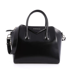 Givenchy Antigona Bag Glazed Leather Small Black