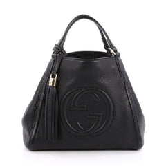 Gucci Soho Convertible Shoulder Bag Leather Small Black