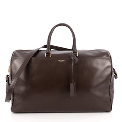 Saint Laurent Classic Duffle Bag Leather 24 Brown 1842801
