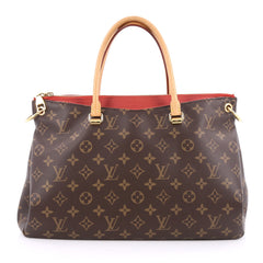 Louis Vuitton Pallas Tote Monogram Canvas Brown