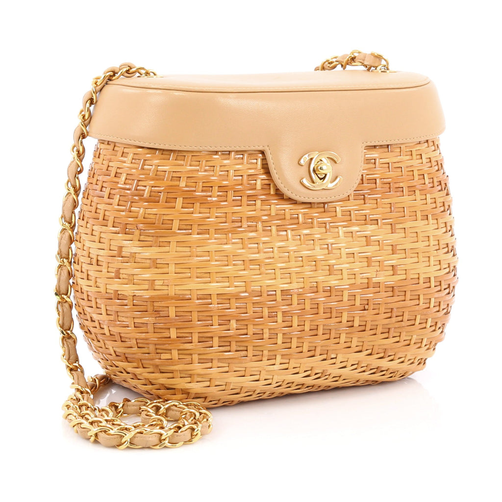 d096e7d6bbd5 Buy Chanel Vintage Basket Bag Wicker and Leather Small Brown 1844401 ...