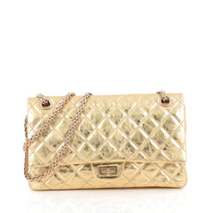 Chanel Reissue 2.55 Handbag Quilted Metallic Calfskin 226 Gold 1844502