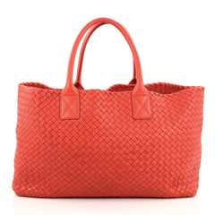 Bottega Veneta Cabat Tote Intrecciato Nappa Medium Red 1848202