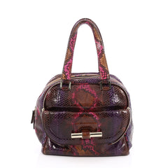 Jimmy Choo Justine Tote Python Small Pink