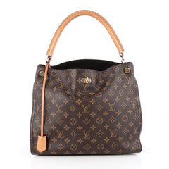 Louis Vuitton Gaia Handbag Monogram Canvas Brown 1853201