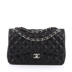 Chanel Classic Double Flap Bag Quilted Lambskin Jumbo 1854406