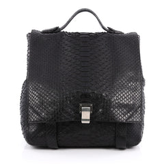 Proenza Schouler Courier Backpack Python Large Black