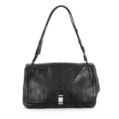 Proenza Schouler Courier Bag Python Medium Black 1855101