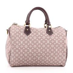 Louis Vuitton Speedy Bandouliere Bag Monogram Idylle 30 Red