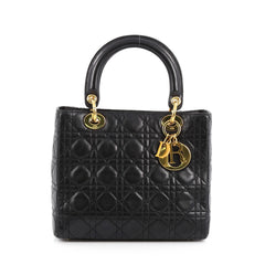 Christian Dior Lady Dior Handbag Cannage Quilt Grained 1857604
