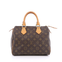 Louis Vuitton Speedy Handbag Monogram Canvas 25 Brown 1857614