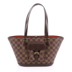 Louis Vuitton Manosque Handbag Damier PM Brown 1857801