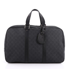 Gucci Zip Around Travel Bag GG Coated Canvas Large Black 1857808