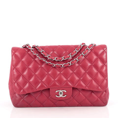 Chanel Classic Single Flap Bag Quilted Lambskin Jumbo 1858606