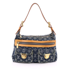 Louis Vuitton Baggy Handbag Denim PM Blue 1859303