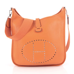 Hermes Evelyne Crossbody Gen III Clemence GM Orange