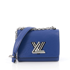 Louis Vuitton Twist Handbag Epi Leather PM Blue