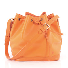 Louis Vuitton Petit Noe NM Handbag Epi Leather Orange