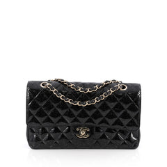 Chanel Classic Double Flap Bag Quilted Patent Medium 1863701