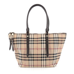 Burberry Salisbury Tote Horseferry Check Canvas Medium 1864301