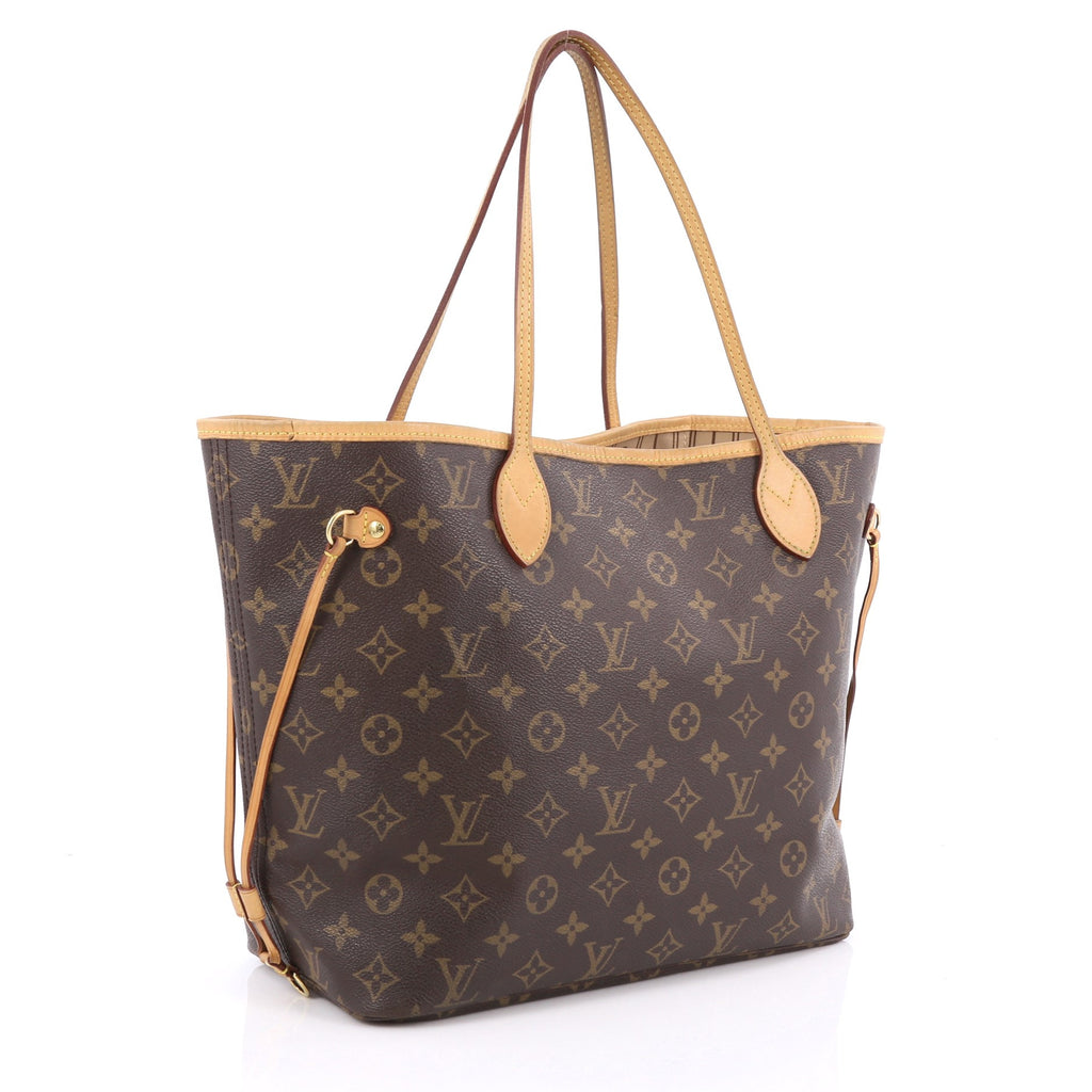 Sac Louis Vuitton Neverfull Mm : Buy louis vuitton neverfull tote monogram canvas mm brown  trendlee