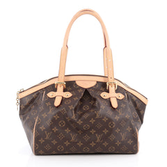 Louis Vuitton Tivoli Handbag Monogram Canvas GM Brown