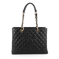 Chanel Grand Shopping Tote Quilted Caviar Black 1866102