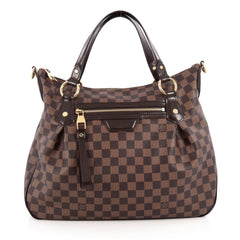 Louis Vuitton Evora Handbag Damier MM Brown 1866401