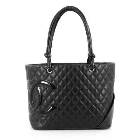 7c11881b202ed2 Buy Chanel Cambon Tote Quilted Leather Large Black 1867302 – Rebag