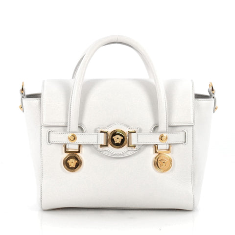 ed196a012a Buy Versace Signature Bag Leather Small White 1869902 – Rebag