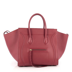 Celine Phantom Handbag Grainy Leather Medium Red 1870101