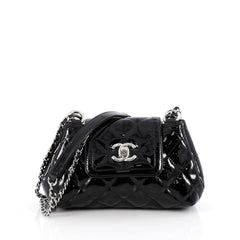 Chanel Coco Shine Accordion Flap Bag Quilted Patent Mini 1871301