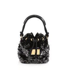 Louis Vuitton Noe Rococo Handbag Sequins Mini Black