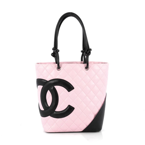 0c4d9a99781c Buy Chanel Cambon Tote Quilted Leather Medium Pink 1874708 – Rebag