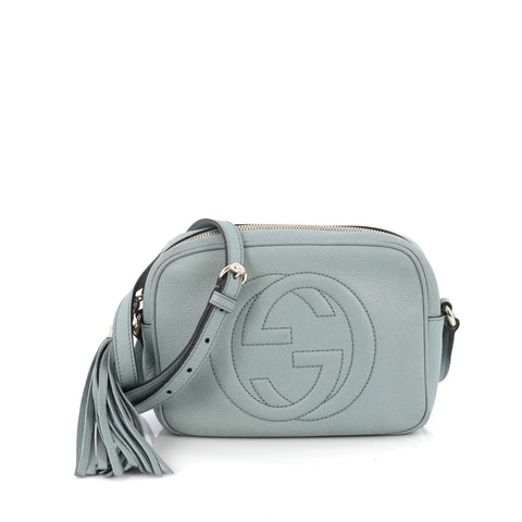 5b02bc6a72a Buy Gucci Soho Disco Crossbody Leather Small Blue 1875602 – Rebag