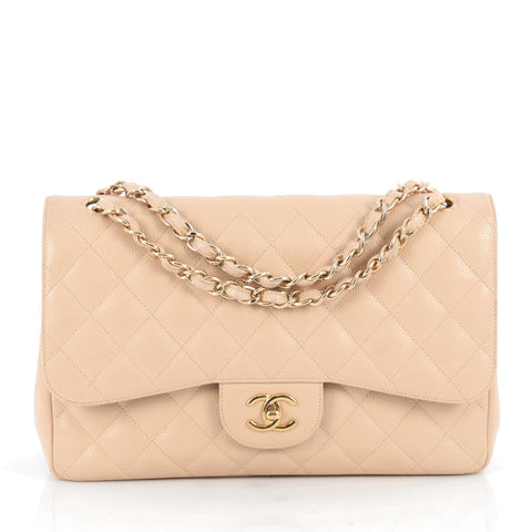 28b1e25c72d3 Buy Chanel Classic Double Flap Bag Quilted Caviar Jumbo 1876001 – Rebag
