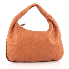 Bottega Veneta Veneta Hobo Embossed Intrecciato Nappa Medium Orange 1877207