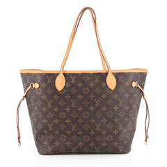 Louis Vuitton Neverfull Tote Monogram Canvas MM Brown 1878409