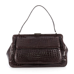 Tiffany & Co. Laurelton Handbag Crocodile Brown 1879401