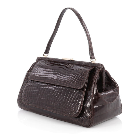 8d05c5cbb Buy Tiffany & Co. Laurelton Handbag Crocodile Brown 1879401 – Rebag