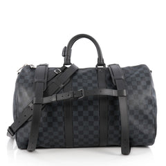 ouis Vuitton Keepall A Dos Bag Damier Cobalt Blue 1880402